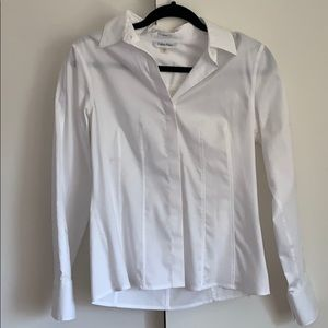 Women's Calvin Klein white button down